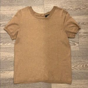 Limited Tan Cotton Knit Tee